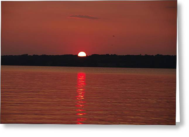 Sunset Greeting Card by Sima Amid Wewetzer