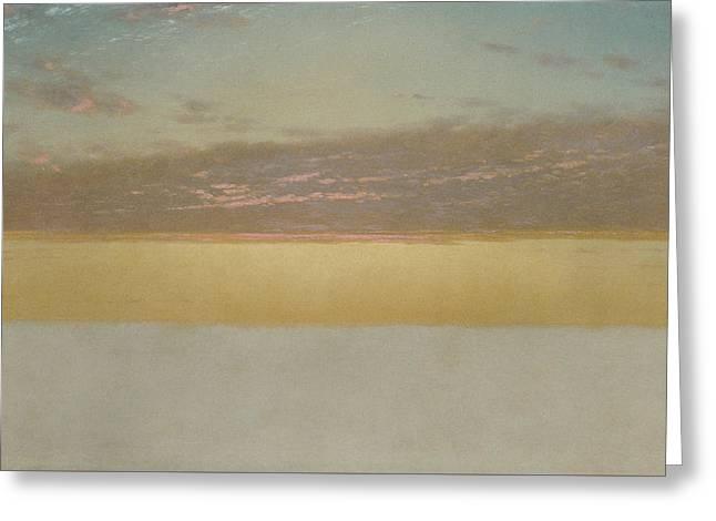 Sunset Sky Greeting Card by John Frederick Kensett