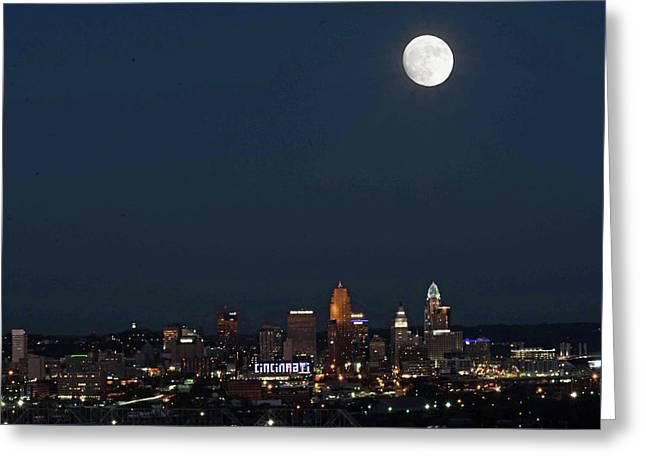 Super Moon Cincinnati 2016 Greeting Card by Randall Branham