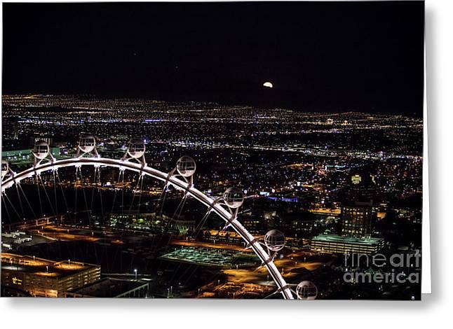 Super Moon In Las Vegas Greeting Card