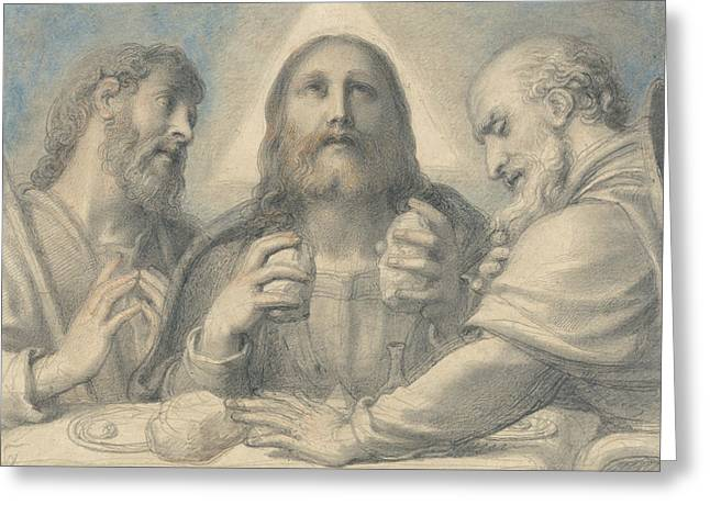 Supper At Emmaus Greeting Card by Richard Cosway