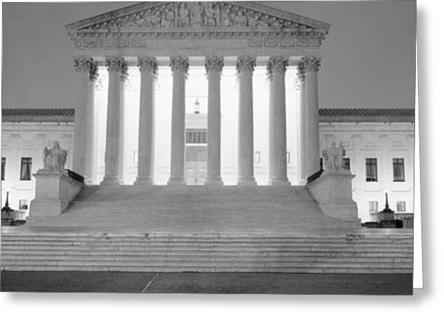Supreme Court Building Illuminated Greeting Card by Panoramic Images