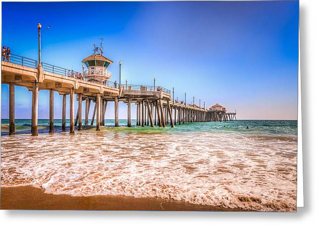Surf City Pier Greeting Card