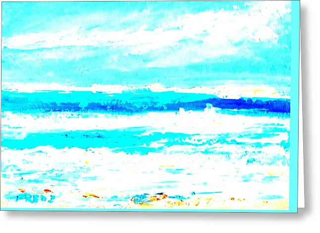 Surf Greeting Card by Fred Wilson