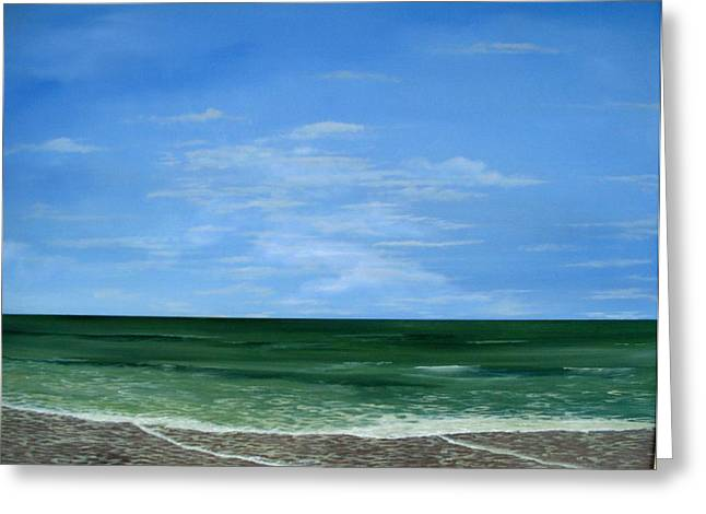 Greeting Card featuring the painting Surf Lace by Ken Ahlering
