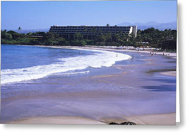 Surf On The Beach, Mauna Kea, Hawaii Greeting Card by Panoramic Images