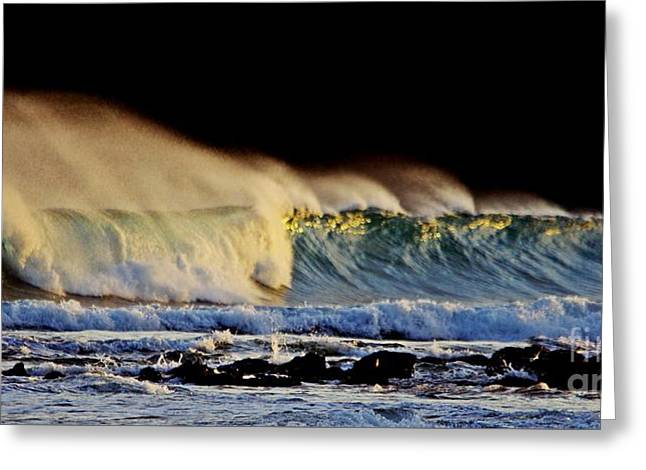 Surfing The Island #2 Greeting Card by Blair Stuart