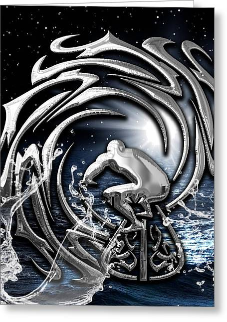 Surf's Up Collection Greeting Card by Marvin Blaine