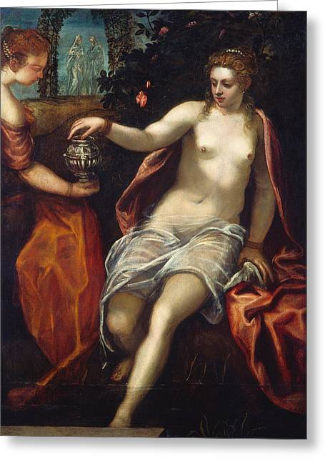 Susanna Greeting Card by Tintoretto