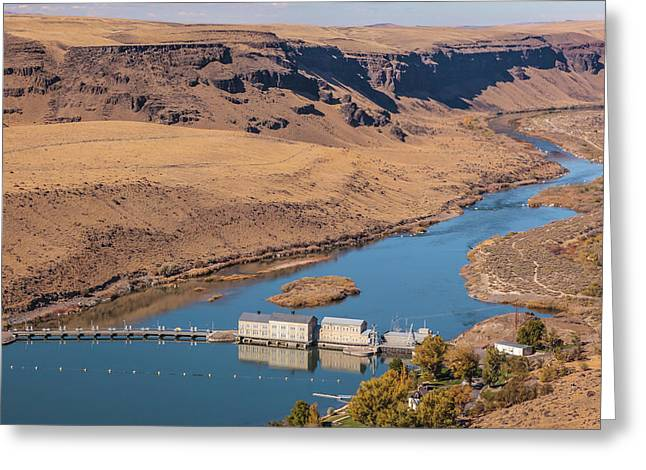 Greeting Card featuring the photograph Swan Falls Dam by Mark Mille