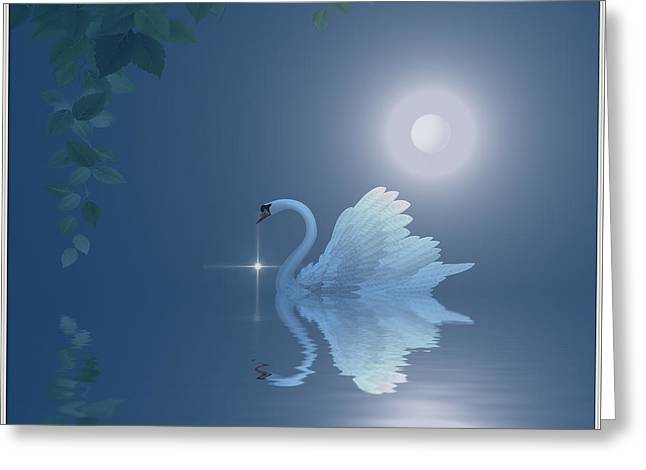 Swan Greeting Card by Harald Dastis