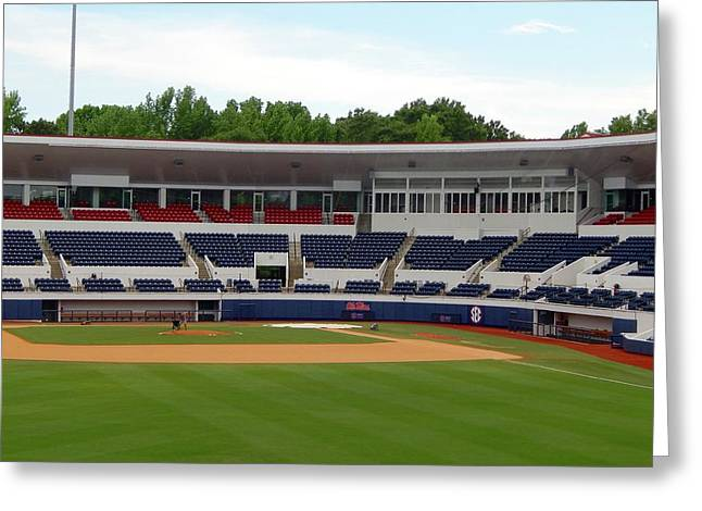 Swayze Field At Ole Miss Greeting Card by Terry Cobb