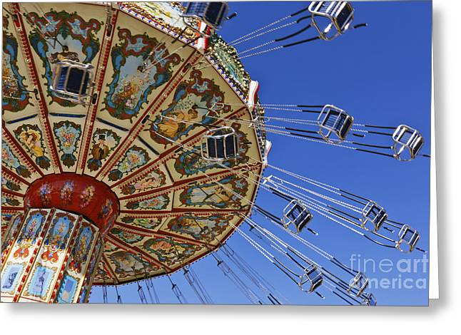 Swing Ride At The Fair Greeting Card by Jeremy Woodhouse