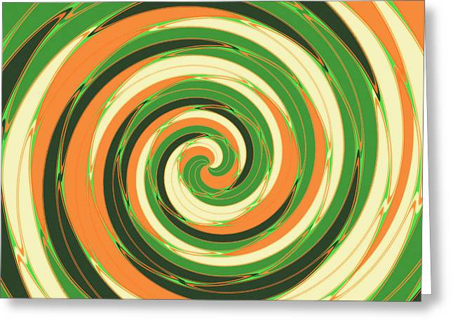 Swirl Greeting Card by Gaspar Avila