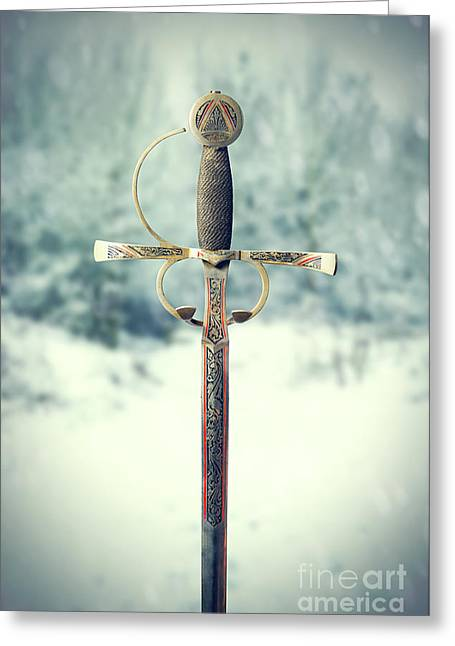 Sword Greeting Card