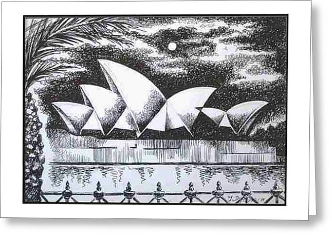 Sydney Opera House I Greeting Card by Yelena Revis