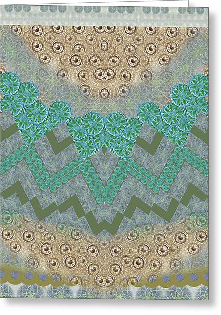 Symetric Harmony Pattern Greeting Card by Sandrine Kespi