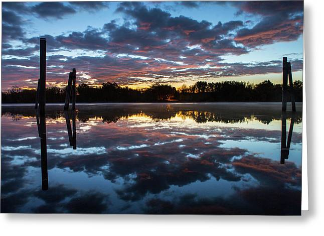 Symetry On The River Greeting Card