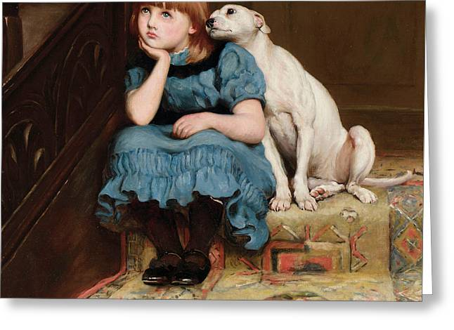 Sympathy Greeting Card by Briton Riviere
