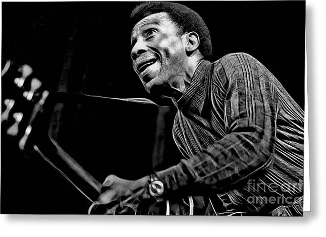 T Bone Walker Collection Greeting Card by Marvin Blaine