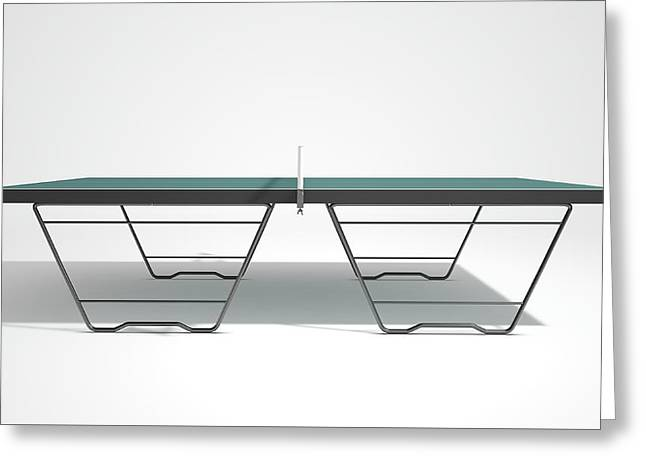 Table Tennis Table Greeting Card by Allan Swart