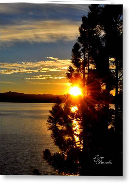 Tahoe Sunset Greeting Card by Lynn Bawden