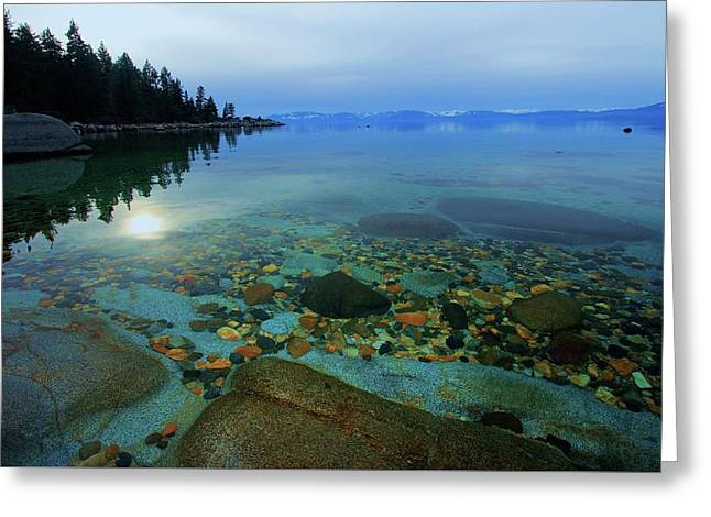 Tahoe Twilight Greeting Card