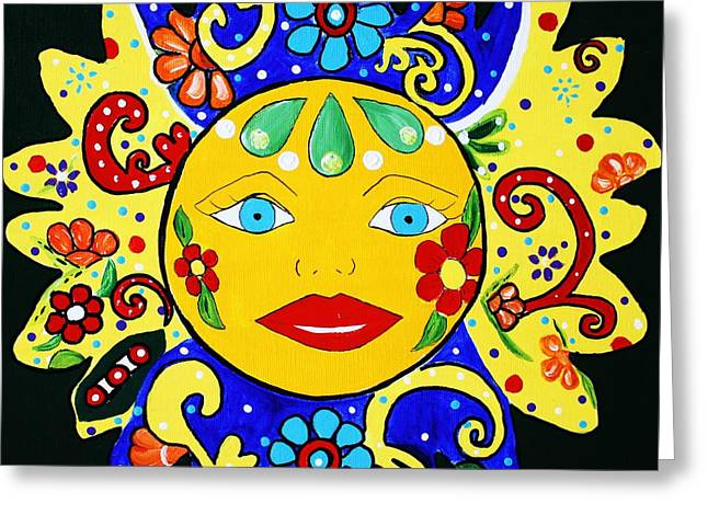Talavera Sun Greeting Card