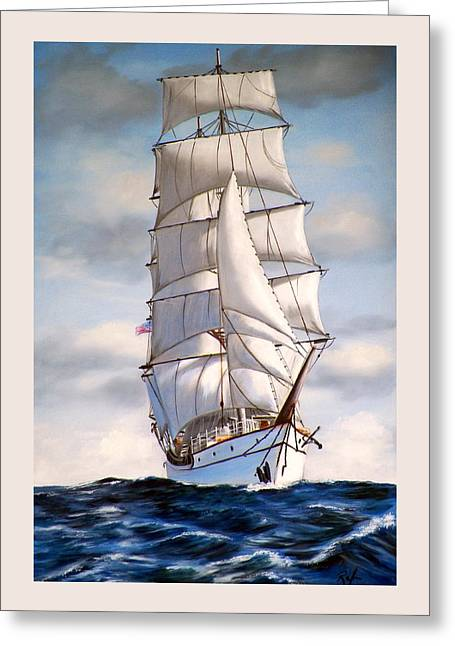 Tall Ship II Greeting Card by RB McGrath