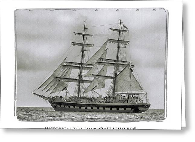 Tall Ship Rah Navard Greeting Card by Plamen Mihaylov