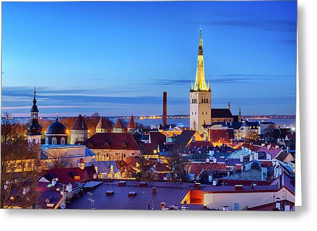 Greeting Card featuring the photograph Tallinn by Fabrizio Troiani