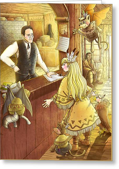 Tammy And The Postmaster Greeting Card by Reynold Jay