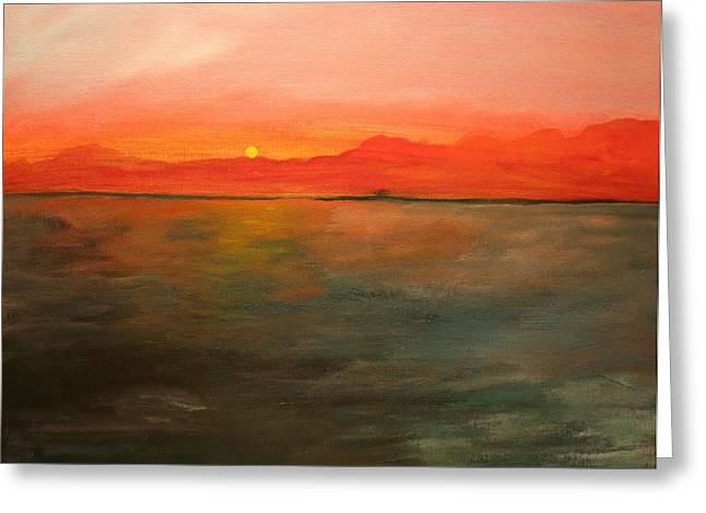 Tangerine Sky Greeting Card by Julie Lueders
