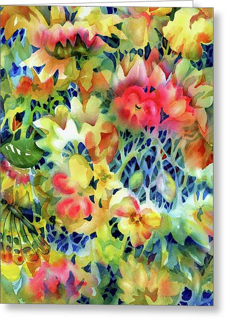 Tangled Blooms Greeting Card