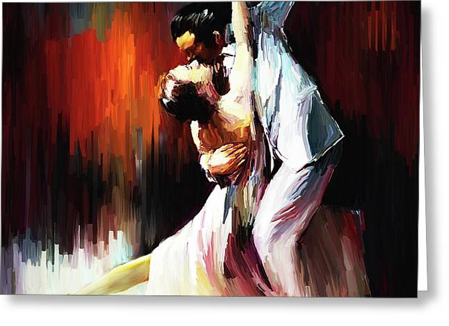 Tango Couple Dance 01 Greeting Card