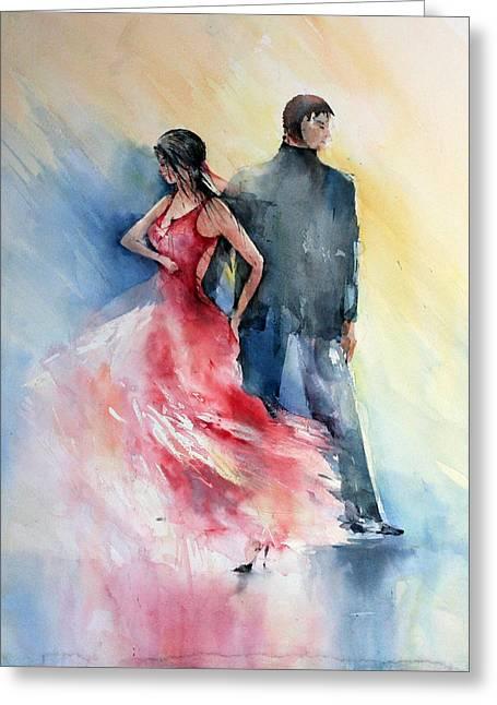 Tango Greeting Card by Natalia Eremeyeva Duarte