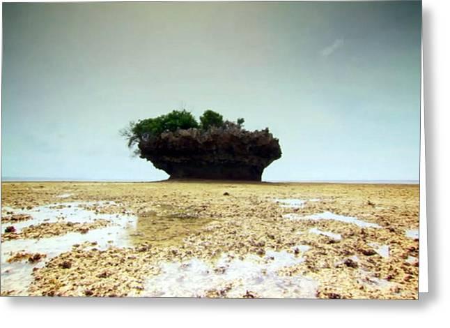 Tanzanian Island Zanzibar Coral Structures Landscape Photography Greeting Card