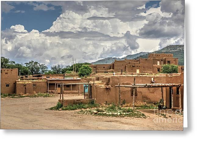 Taos Pueblo, New Mexico Greeting Card