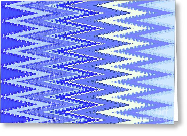 Tapestry In Blue Two Greeting Card by Ann Johndro-Collins