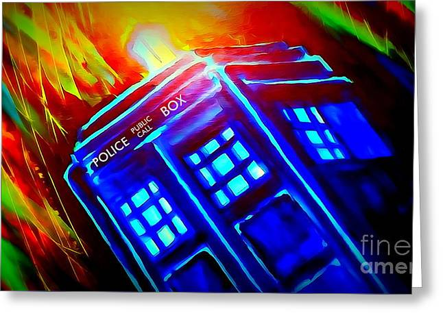 Tardis Watercolor Edition Greeting Card