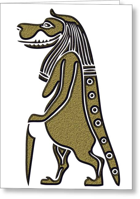 Taweret - Mythical Creature Of Ancient Egypt Greeting Card by Michal Boubin