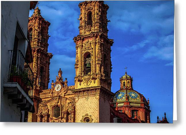 Taxco Mexico Greeting Card by Fred  Boehm