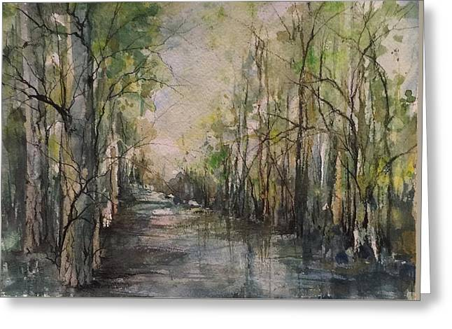 Bayou Liberty Greeting Card by Robin Miller-Bookhout