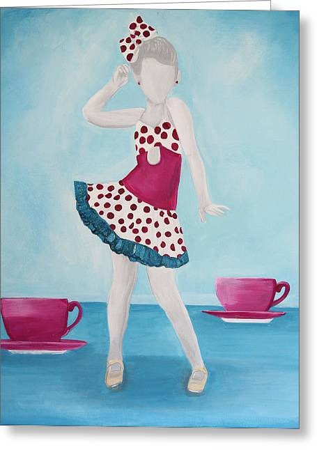 Tap Paintings Greeting Cards - Tea For Two Greeting Card by Kim Chambers