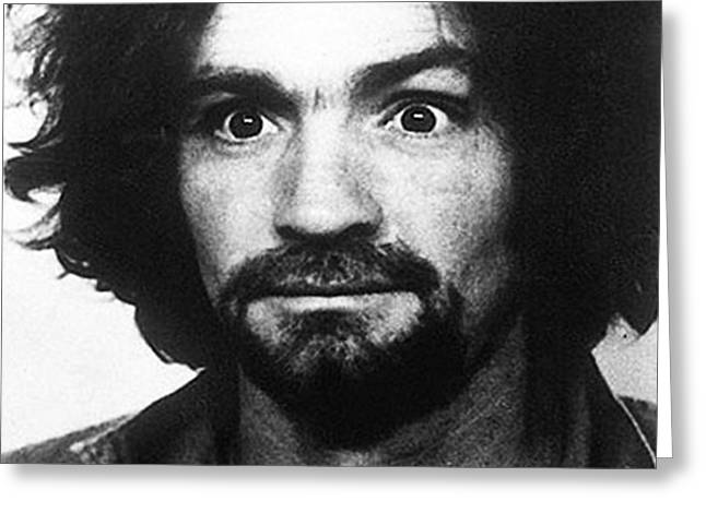 Charles Manson Mug Shot 1969 Vertical  Greeting Card