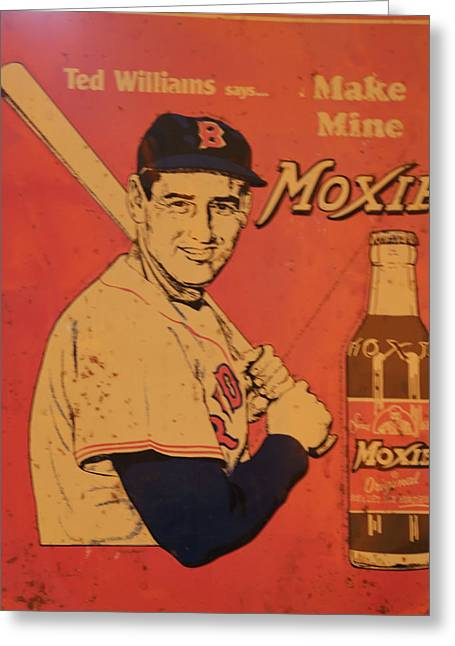 Ted Williams For Moxie Greeting Card