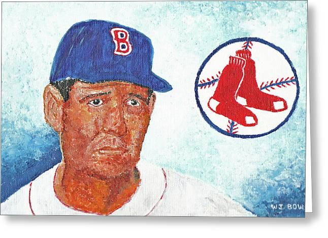 Ted Williams Greeting Card by William Bowers