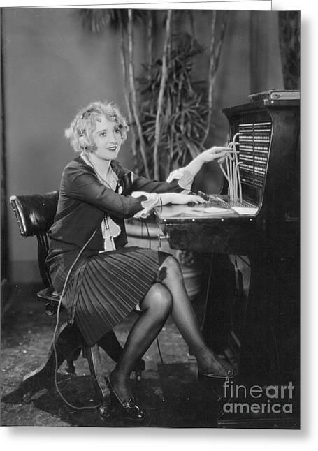 Telephone Exchange, 1920s Greeting Card