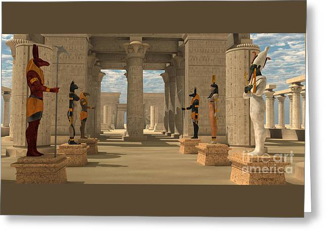 Temple Of Ancient Pharaohs Greeting Card