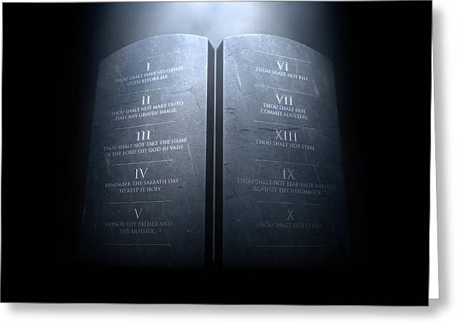 Ten Commandments Greeting Card by Allan Swart